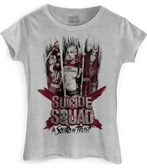 camiseta dc comics bandup! esquadrão suicida we trust