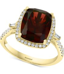 effy rhodolite garnet (5-1/3 ct. t.w.) & diamond (1/4 ct. t.w.) ring in 14k gold