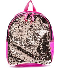 billieblush sequin-embellished transparent backpack - pink