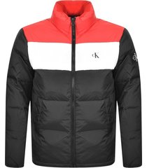 calvin klein jeans j30j314547 down puffer jacket and jackets men black red