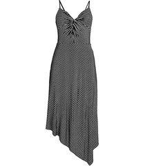 paola asymmetrical stripe dress