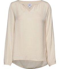 brianasz ls blouse blouse lange mouwen crème saint tropez