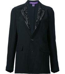 ralph lauren 'yvette' beaded jacket - black
