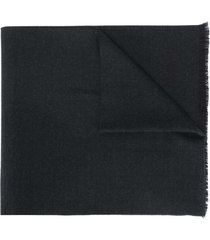 church's embroidered logo fine-knit scarf - black
