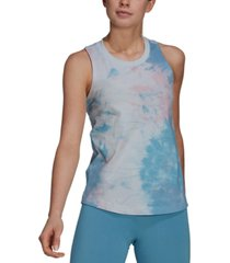 adidas women's cotton tie-dyed racerback tank top