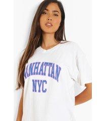 oversized overdye manhattan t-shirt, ecru