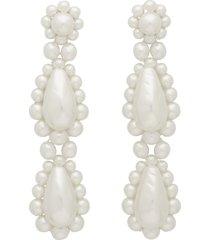 white pearl drop earrings