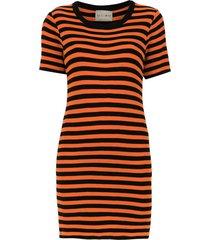andrea bogosian striped slim dress - black
