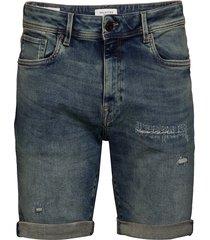 slhalex 414 mid blue su-st dnm shorts w jeansshorts denimshorts blå selected homme