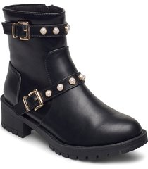 biapearl fashion boot shoes boots ankle boots ankle boots with heel svart bianco