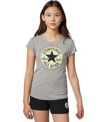 converse camiseta lemon print chuck taylor patch