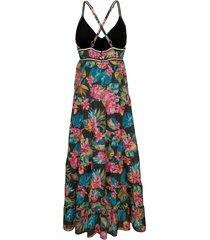 strandklänning alba moda blå/flerfärgad
