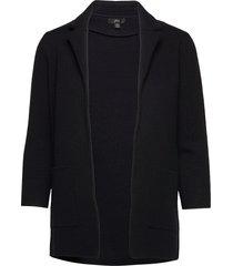 sophie open-front sweater blazer stickad tröja cardigan svart j.crew
