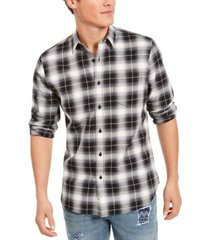 sun + stone men's will plaid shirt, created for macy's