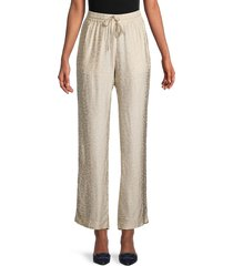 zadig & voltaire women's leopard-print drawstring pants - rope - size 36 (s)