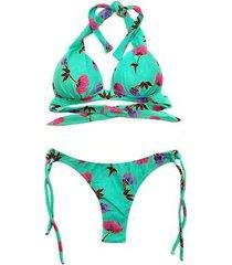 biquíni bahamas luasal poliamida floral bojo cortinão verão