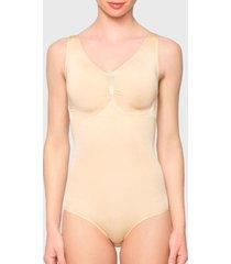 pack 2 bodys lady genny seamless control negro/ nude - calce ajustado