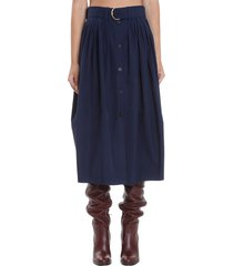 chloé skirt in blue cotton
