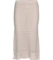 illuminating frill skirt knälång kjol creme odd molly