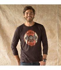 bm l/s brown tee shirt