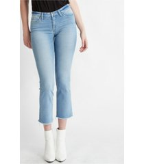 flying monkey mid rise seamless waistband slim crop straight jeans