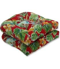 pillow perfect beachcrest poppy wicker seat cushion, set of 2
