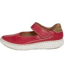 skor med kardborreband josef seibel röd