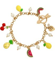 betsey johnson mixed fruit charm bracelet