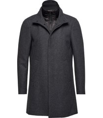 harvey n classic wool wollen jas lange jas grijs matinique