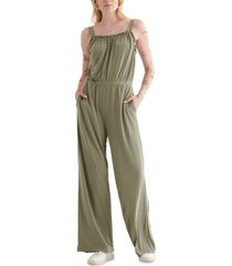 lucky brand square-neck jumpsuit