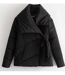 cappotto corto in cotone trapuntato tinta unita