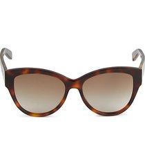 54mm tortoiseshell squared cat eye sunglasses