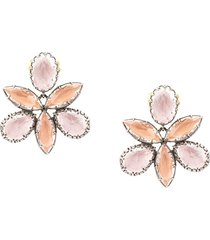 larkspur & hawk sadie orchid ballet stud earrings - pink