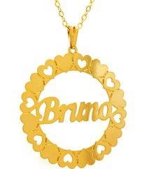 gargantilha horus import mandala bruno banho ouro amarelo 18 k - 1060035