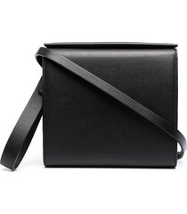 aesther ekme pouch leather clutch bag - black