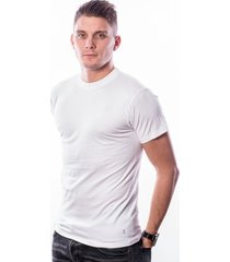 ten cate men stretch t-shirt round neck white two pack (30227)