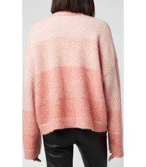 holzweiler women's tine knitted cardigan - light pink - l