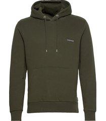 logo embroidery hoodie hoodie trui groen calvin klein