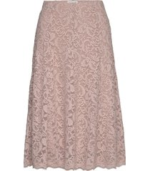 skirt knälång kjol rosa rosemunde