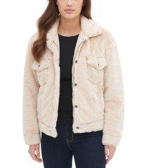levi's faux fur trucker jacket