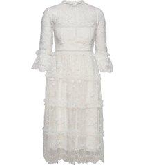 camille dress knälång klänning vit by malina