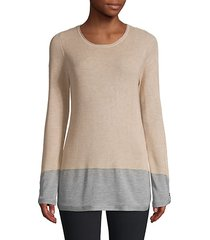 colorblock roundneck sweater