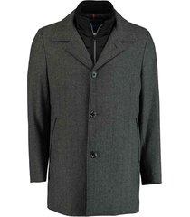 bos bright blue blue geke coat 19301ge01bo/980 antra antraciet