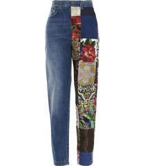 dolce & gabbana patchwork jeans