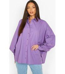tall oversized blouse met vleermuismouwen en ballonmouwen, purple