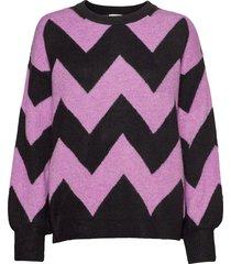 pullover long-sleeve stickad tröja multi/mönstrad gerry weber