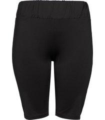 shorts plus stretch elastic waist cykelshorts svart zizzi