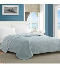 caribbean joe crinkle reversible quilt - full/queen