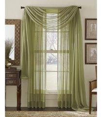 """lumino by hlc. me canberra sheer voile swag scarf 55"""" x 216"""""""