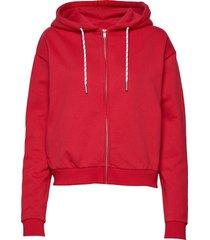 malaga zip hood hoodie trui rood svea